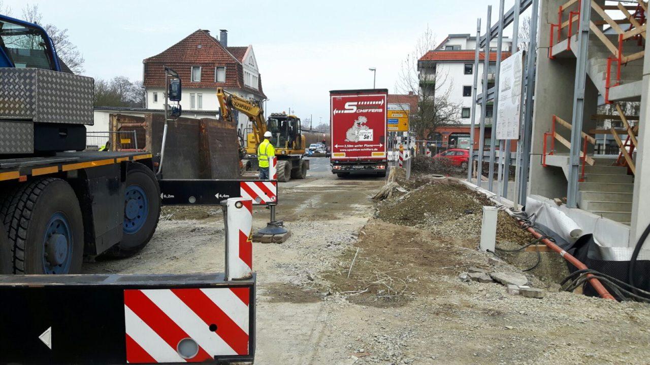 Erdarbeiten Detmold Parkhaus