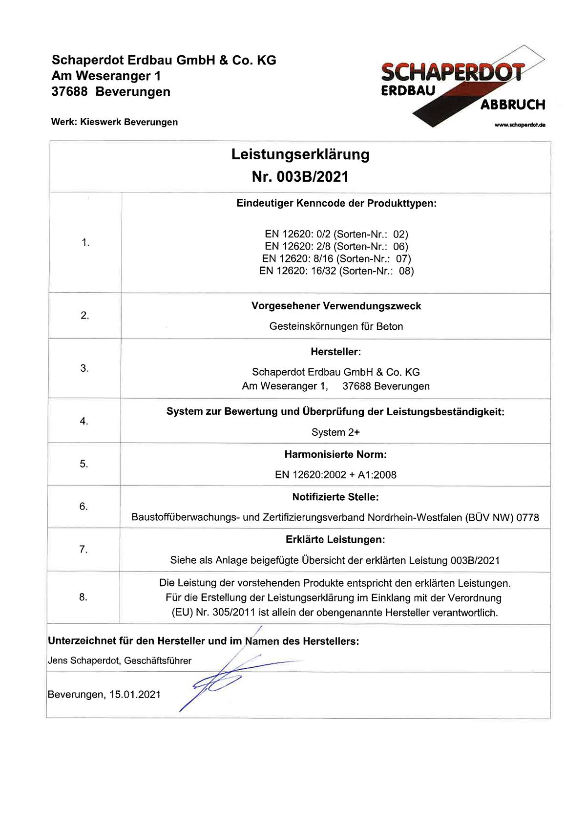 Leistungserklärung 003B 2021